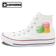 Original Shoes Womens Converse Design French Dessert Pastry Macaron Shoes Mens Canvas Sneakers Chuck Taylor All Stars