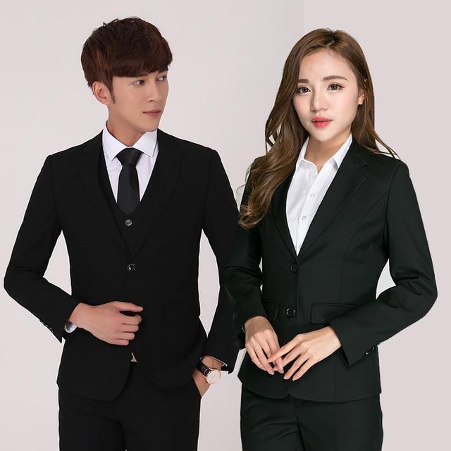 2cab830c004 2018 New High Quality Business Men s Professional Suits Men Women Blazer  Suits Hotel Work Clothes XS - 3XL