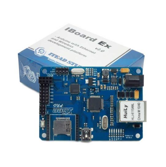 Iboard EX ATMega32U4 W5100 Ethernet Expansion Board with SD XBee POE Socket for Arduino FZ0027