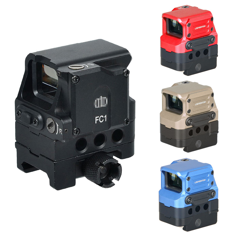 Tactical Optical FC1 Red Dot Sight 2 MOA Holographic Reflex Sight Scope For 20mm Rail With