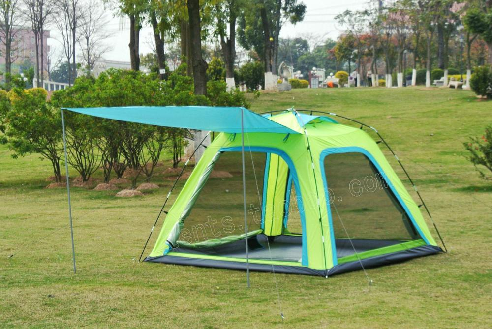 2016New arrival!Large space sun canopy 5-8persons outdoor camping travel family tent in good quality outdoor double layer 10 14 persons camping holiday arbor tent sun canopy canopy tent