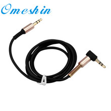 HL 2016 New 3.5mm Jack Elbow Male to Male Stereo Headphone Car Aux Audio Extension Cable DEC26Levert Dropship