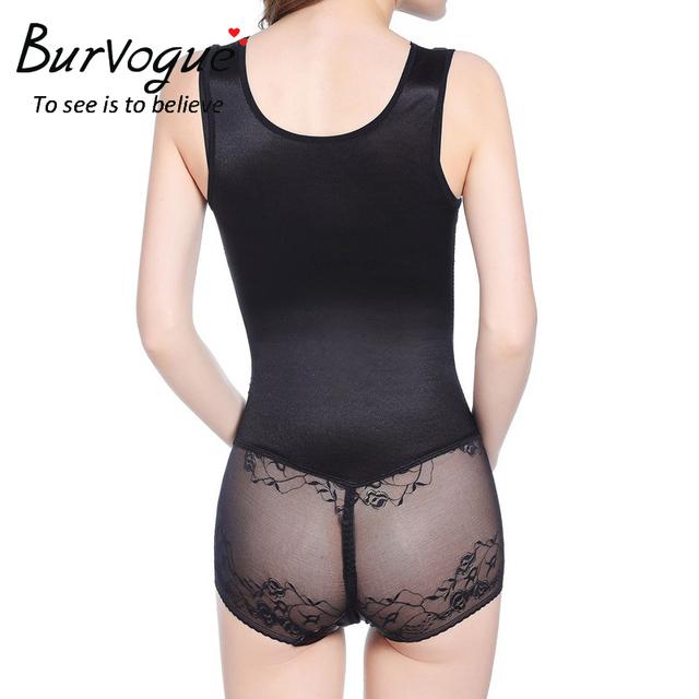 Burvogue New Breathable Seamless Shaper Thin Firm Lace Bodysuit Mesh Women Full Body Shaper Butt Lifter Slimming Shapewear