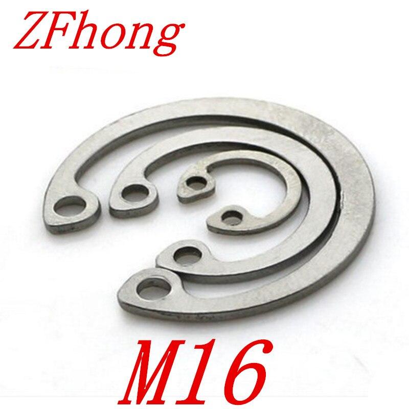 20pcs Retaining Ring External Circlip Snap Ring Iron C-type Assortment Silver
