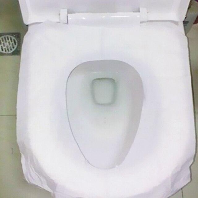 10pcs/bag Disposable Paper Toilet Seat Covers Travel Biodegradable Sanitary Toilet Seat Covers