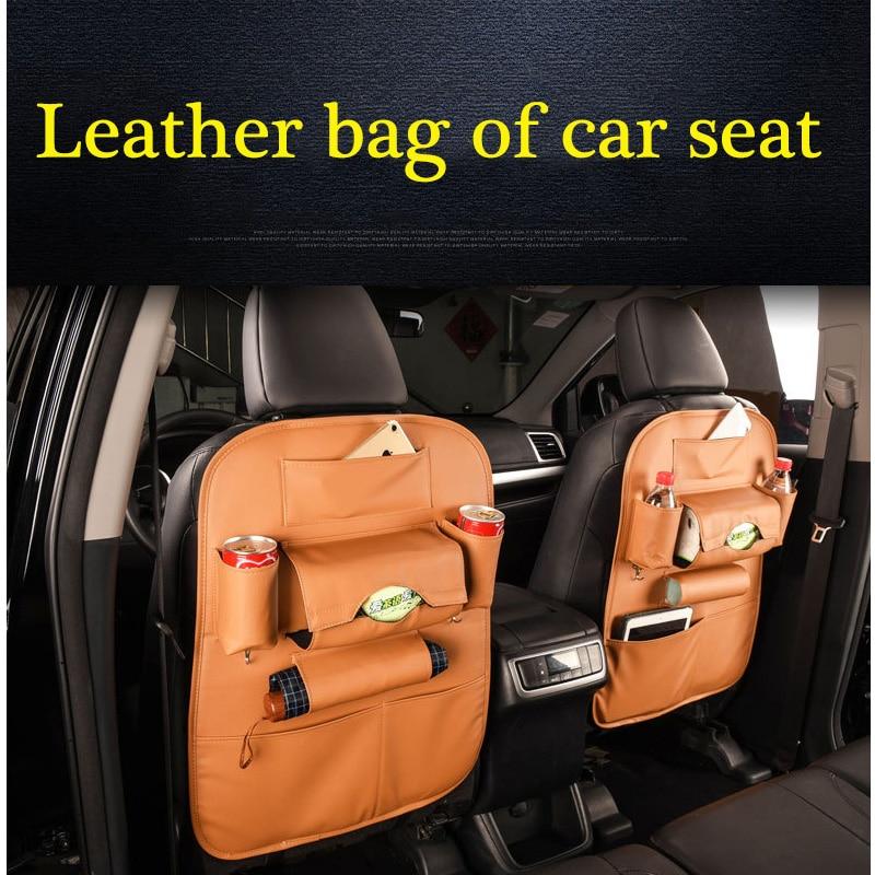 XYWPER Car Seat Back font b Storage b font Bag Organizer PU Leather Pad Cups font