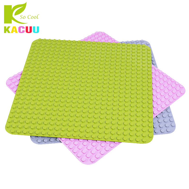 Big Size Blocks Base Plate 404/512/572/764 Dots Baseplate DIY Building Blocks Toys For Children Compatible Legoa Duploe Gifts new base plate 32 16 dots big size blocks baseplate compatible legoes duploe 51 25 5 cm diy building blocks base for kids gifts