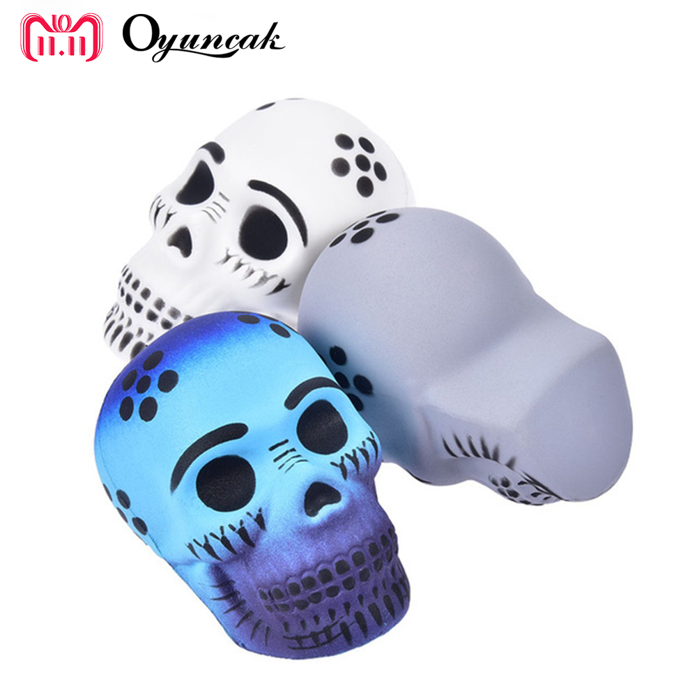 Oyuncak Squishy Skull Novelty Gag Toys Antistress Squishe Anti stress Funny Relief Popular Surprise Gags Practical Jokes Squeeze oyuncak squishy unicorn novelty gag toys surprise antistress fun squeeze unicorn squish kawaii anti stress jumbo funny gadgets