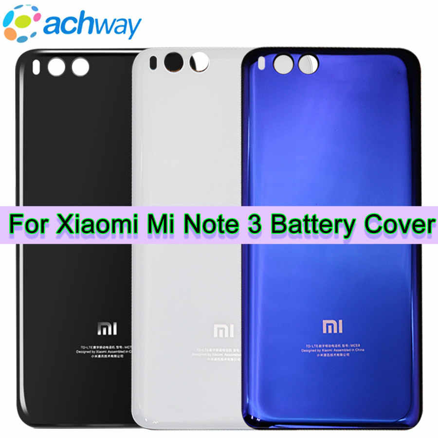 Xiaomi Mi Note3 Original Tempered Glass Case for Xiaomi Note3 Mi Note 3 Back Battery Cover Housing Replacement Part Door Panel