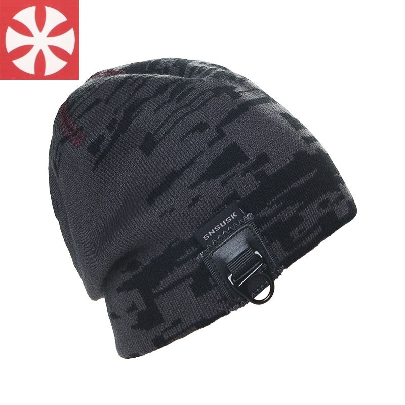 SNSUSK Skullies Knitted Wool Beanies Men's Camouflage Tactical Hats Airsoft Hunting Outdoor Military Motorcycle Ski Cycling Hats skullies