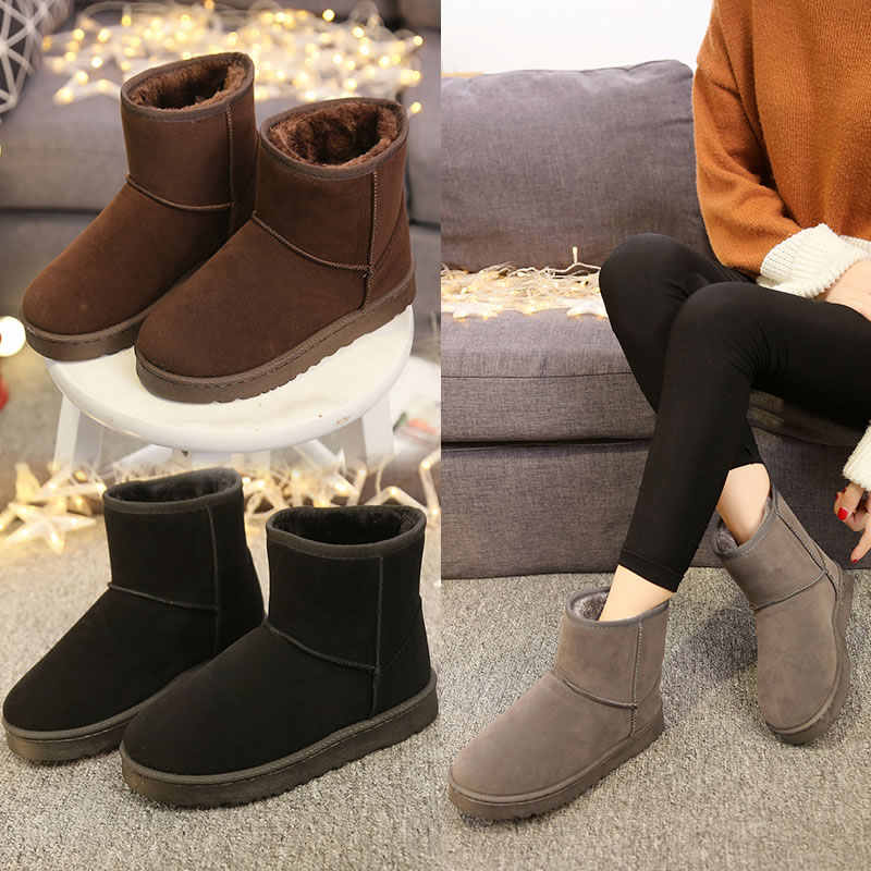 dd5c3bdb402 Detail Feedback Questions about 2019 Winter Women Ankle Classic Short Boots  Fashion Winter Snow Boots High Quality Flat Booties Keep Warm Woman Cotton  Shoes ...