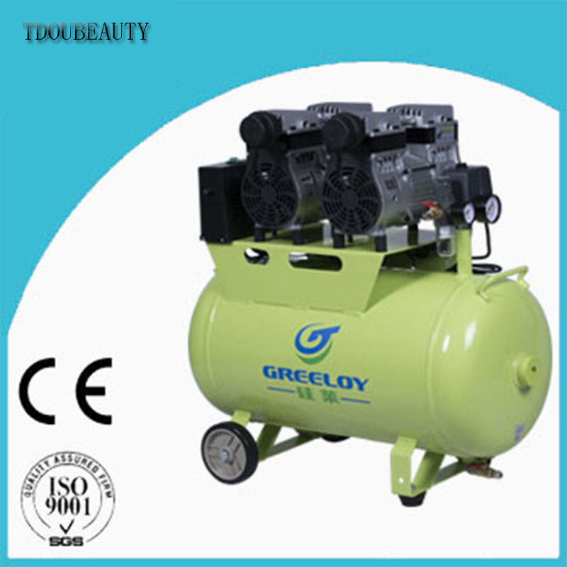 Silent Oil Free Oilless Air Compressor 60L Tank 1600w 310L/min TDOUBEAUTY-GA-82 One By Four for Dental Chair Free Shipping tdoubeauty dental greeloy silent oil free air compressor ga 62 free shipping