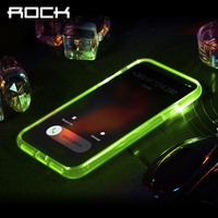 For IPhone X Case ROCK Glitter Colorful Flash Light Phone Camera Protection Transparent Flash Case For