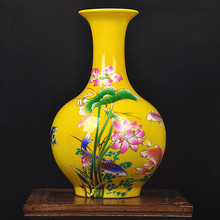 ceramic vase vase with yellow May there be surpluses every year. modern fashion decoration bridal vase ornaments