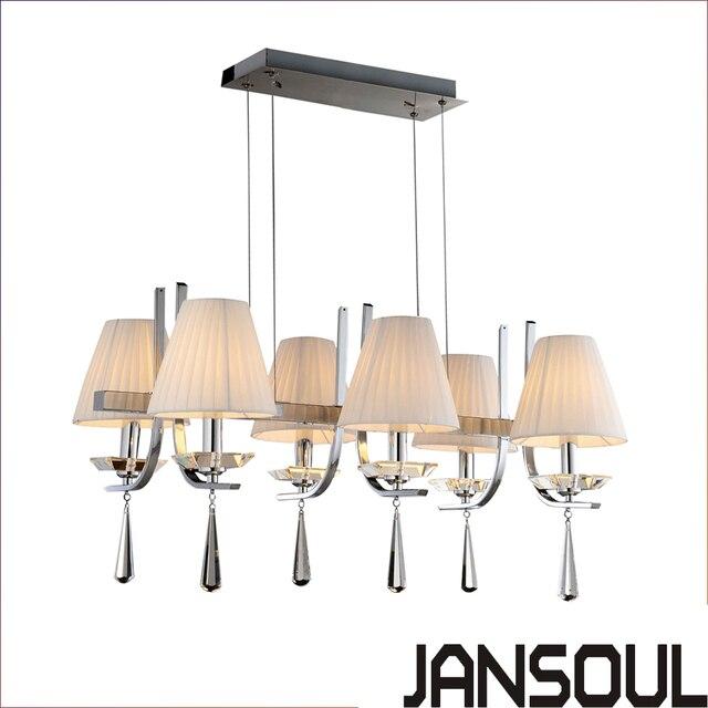 2017 Nieuwe Traditionele Metalen Frame Wit Lampenkap Hanglamp Voor