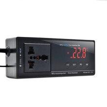 Wholesale digital thermometer aquarium thermostat Electronic thermal regulator Temperature regulator Thermocouple +Socket 40%OFF