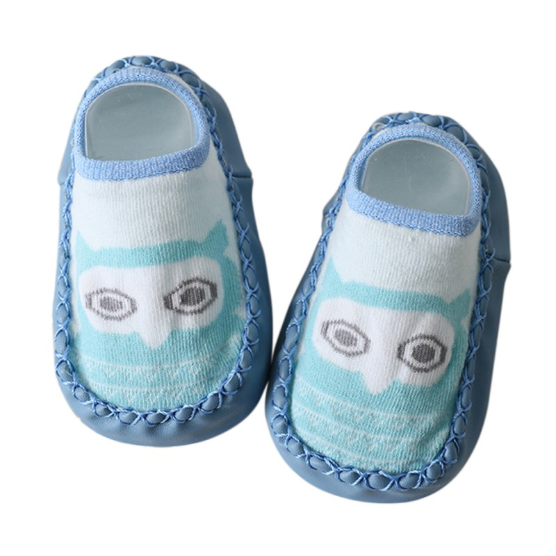 2017 Baby Cotton Character Socks Kids Girls Boys Children Indoor Floor Socks Leather Sole Non-Slip Thick Towel Toddler Socks M8