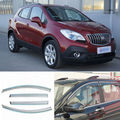 4pcs New Smoked Clear Window Vent Shade Visor Wind Deflectors For Buick Encore