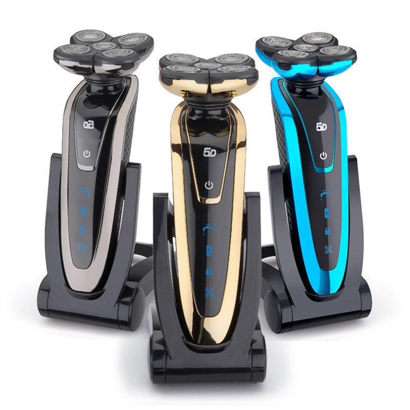 5 Blade Washable Rechargeable Electric Shaver Electric Shaving Beard Shaving Machine Razor Electric Razor For Men 3 blade led display electric shaver razor for men rechargeable face shaving machine waterproof beard shaver cord