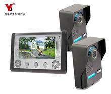 Yobang Security Building Automation TFT Color Display Wired Video Door Phone Video Intercom System Doorbell Kit