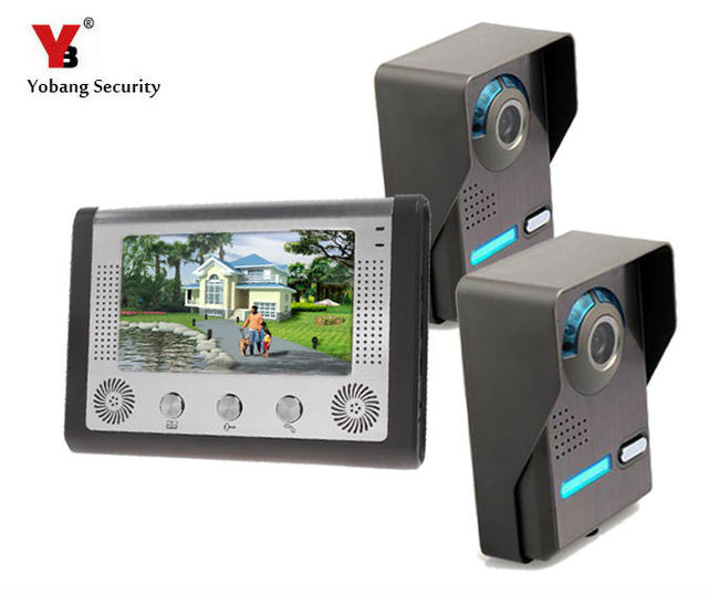 Yobang Security Building Automation TFT Color Display Wired Video Door Phone Video Intercom System Doorbell Kit for Home Apartme