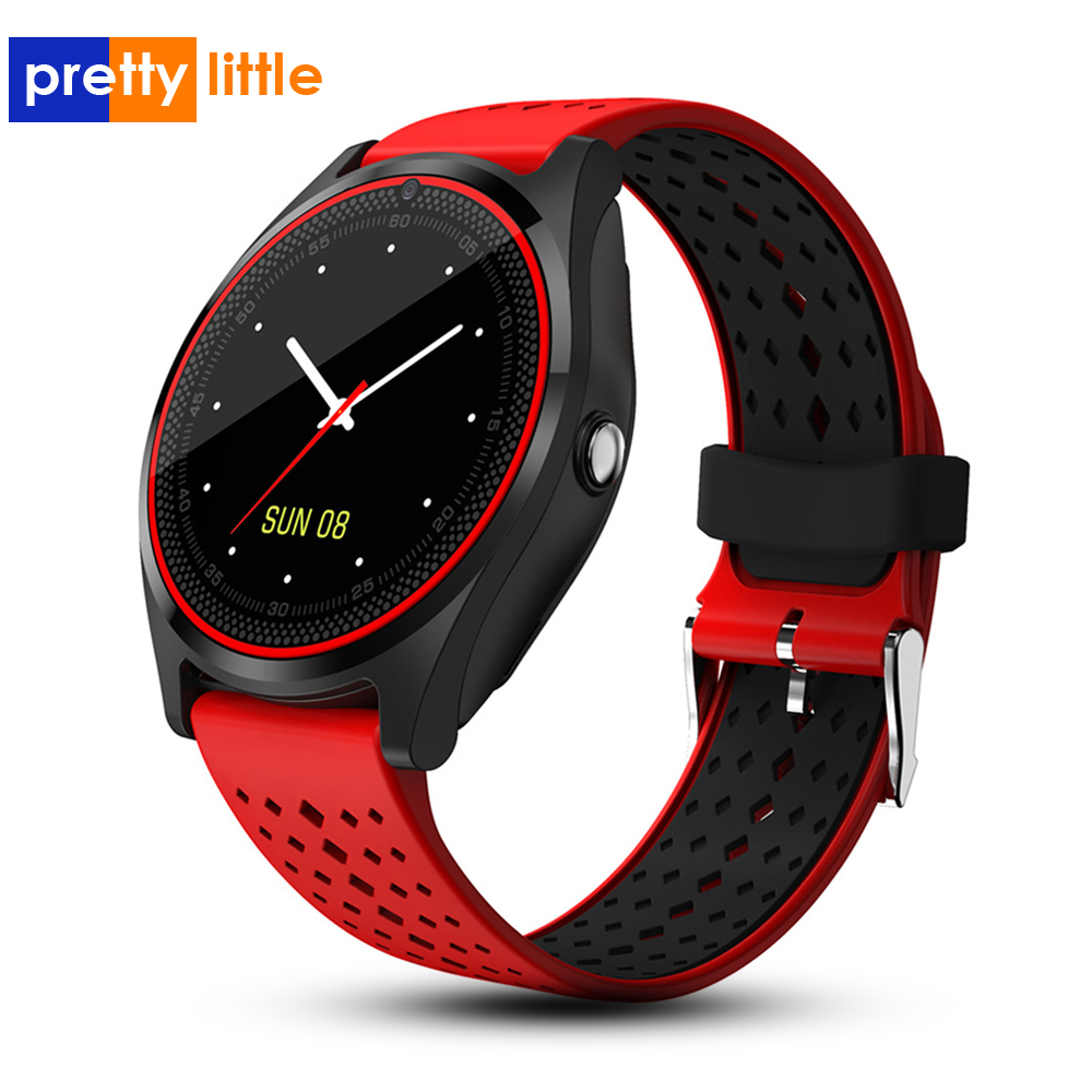 Montre intelligente 2019 hommes sim android étanche pression artérielle fréquence cardiaque montre de fitness V9 bande intelligente