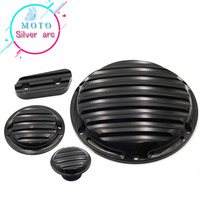 Hot Sale For Harley Sportster 883 1200 XL Harley Cover With Logo Motorcycle CNC Deep Cut Derby Timing Timer 1 Set