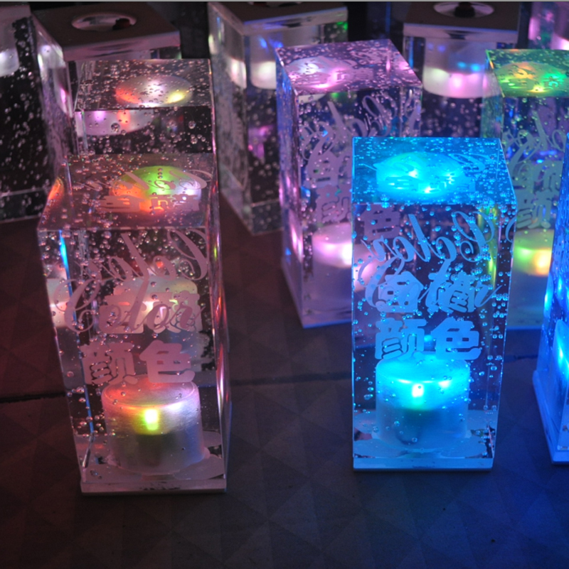 2015 Lava Lamp Abajur Infantil Free Shipping Led Desk Light Square Crystal  Bar Night Light Table Light For Ktv/Bar In Night Lights From Lights U0026  Lighting On ...