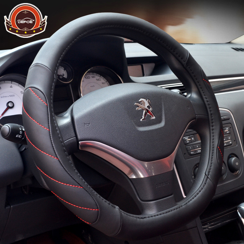 Four seasons Best quality Car steering wheel Fiber leather material Style D Diameter 38cm Non-slip car steering wheel cover