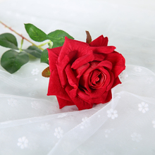 48cm 1 Piece Artificial Rose Fake Dried Flowers Silk Plants For Wedding Decoration Decorative