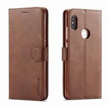 Cases Xiaomi Redmi Phone-Bags Flip Cover Luxury Magnetic Wallet Vintage for Note-5 Pro