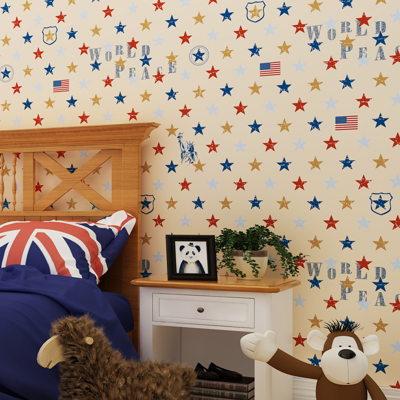 Beibehang British Mediterranean children room boy girl wallpaper cartoon wallpaper star living room bedroom background wallpaper beibehang wallpaper vertical stripes 3d children s room boy bedroom mediterranean style living room wallpaper page 7