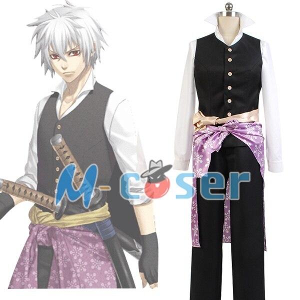 Hakuoki Heisuke Todo Swordman Men Waistcoat Uniform Custom Made Cosplay Costume Full set