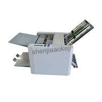 自動電気紙折機デスクトップローラーホイール折機 A4 サイズ折りたたみボードプレートリムーバブル 220 V/110 V -