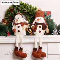 Christmas Decorations 2016 Artificial Christmas Tree Ornaments Doll Chrismas Decorations For Home Vintage Snowman Gift Doll