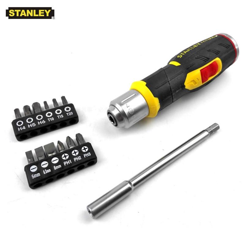 Stanley 13 In 1 Multi-bit Pistol 90 Degree Screwdriver Ratchet Electrician Bending Screwdrivers Utility Kit Holder Universal