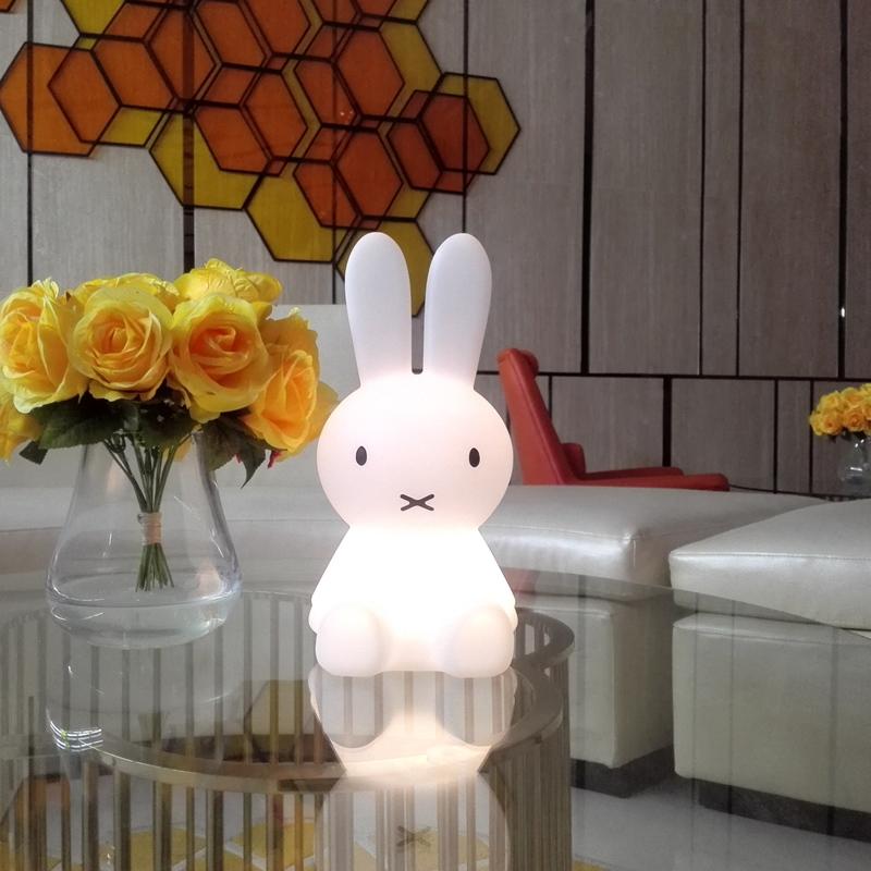 Led Rabbit Night Light USB Dimmable for Children Baby Kids Gift Bedside Bedroom Living Room Animal Cartoon Decorative Table Lamp