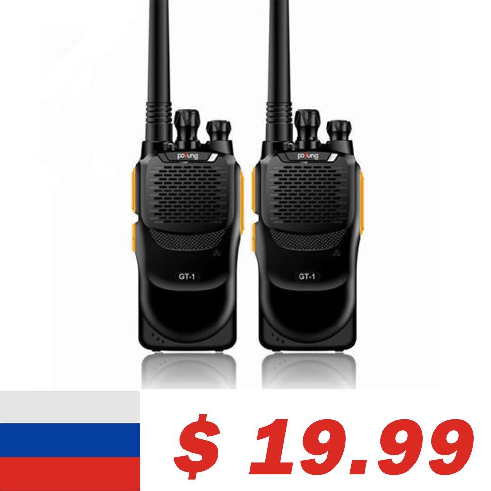 2 pcs Baofeng GT-1 Pofung UHF 2 m 400-470 mhz 16CH FM Deux-way Ham Main- tenue Radio Talkie Walkie Mieux Que BF-888s