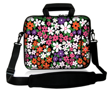 "Small Wildflowers Type 10""13""14""15""17"" Laptop Sling Satchel Neoprene Bag Netbook Handle Sash Sling Cover Pouch For  Lenovo ASUS"