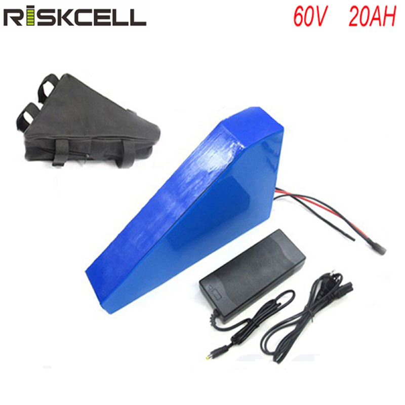 No taxes 60v triangle electric bike lithium ion battery 60v 20ah e bike battery for 60v 2000w  electric bike with BMS +charger 36v 1000w e bike lithium ion battery 36v 20ah electric bike battery for 36v 1000w 500w 8fun bafang motor with charger bms