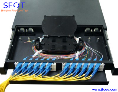 Fiber Optic Patch Panel Rack Mounted Terminal Box 19