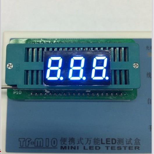 100pc Common Anode/Common Cathode 0.4 Inch Digital Tube 3 Bit Digital Tube 0.4inches Best Digital Tube Blue