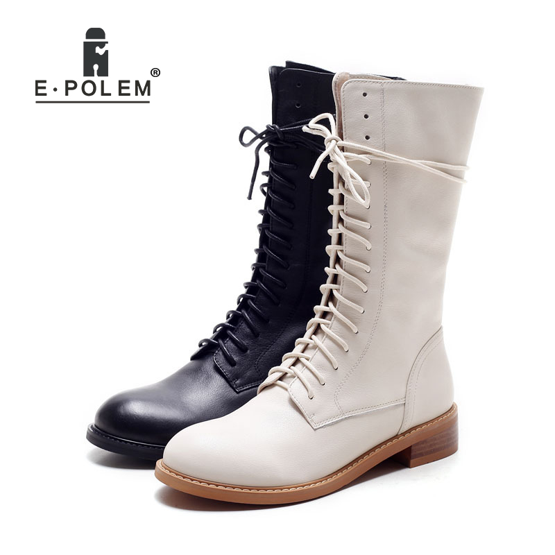 woman genuine leather boots 100% Cowhide ankle boots women autumn winter martin boots lace up unisex martin boots 2017 new autumn winter shoes for women ankle boots genuine leather boots women martin boots lace up platform combat boots botas