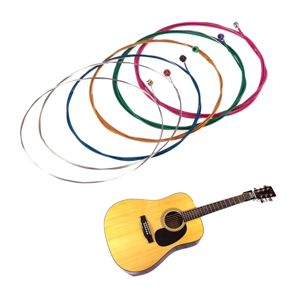 6Pcs Orphee Q160C Silver Plated Folk Acoustic Guitar Strings Carbon Steel Guitar Parts Replacement