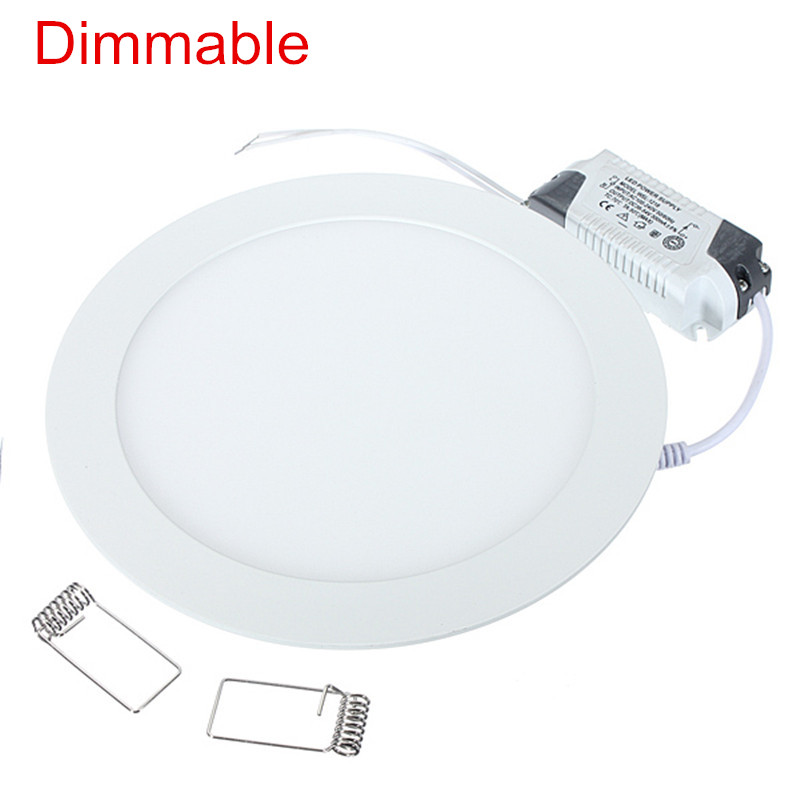 LED Panel light 4W 6W 9W 12W 15W 25W Round Ultrathin SMD 2835 Power Driver Ceiling Panel Lights Cool/Natural/Warm White Dimmable|LED Panel Lights| |  - title=