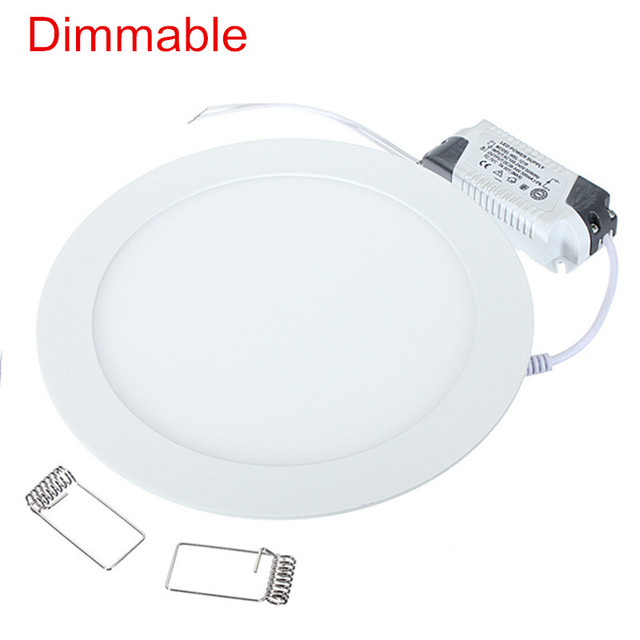 LED Panel light 4W 6W 9W 12W 15W 25W Round Ultrathin SMD 2835 Power Driver Ceiling Panel Lights Cool/Natural/Warm White Dimmable