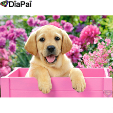 DIAPAI Diamond Painting 5D DIY 100% Full Square/Round Drill Animal dog flower Embroidery Cross Stitch 3D Decor A24791