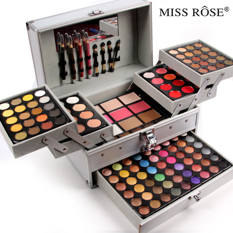 ФОТО 54 colors Shimmer eyeshadow+40 colors Matte eyeshdow palette 3 layers of professional cosmetic case kit Makeup Sets