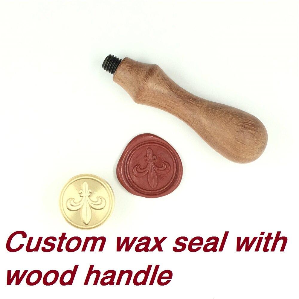 Sello de cera personalizado con su logotipo, con mango de madera, sello Retro de sello antiguo DIY, sello de cera personalizado diseño personalizado