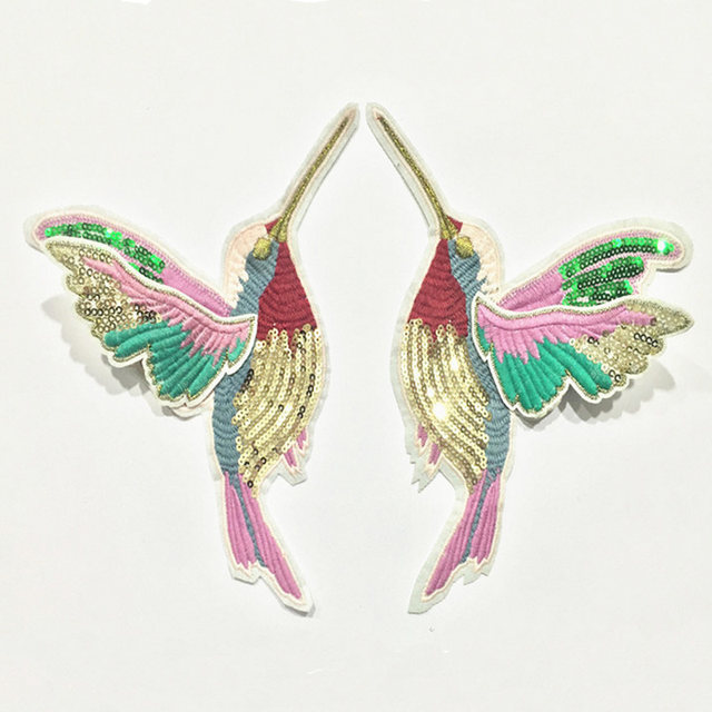 Tienda Online 1 par exquisito lentejuela colibrí pájaro bordado ...
